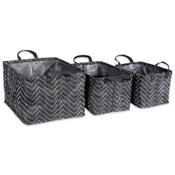 DII Assorted Coated Tribal Chevron Laundry Bins (Set of 3)