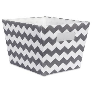 DII Hardsided Chevron Decorative Storage Trapezoid