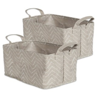 DII Coated Tribal Chevron Laundry Bins (Set of 2)