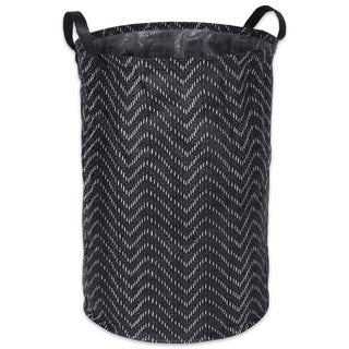 DII Round Coated Tribal Chevron Laundry Hamper