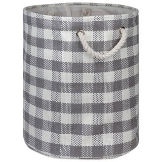 DII Round Checkers Decorative Storage Bin