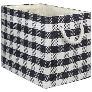 DII Checkers Decorative Storage Bin