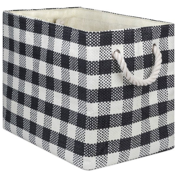 DII Checkers Decorative Storage Bin