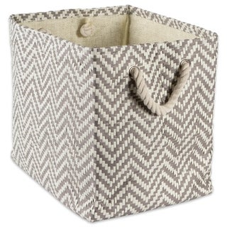 DII Chevron Decorative Storage Bin