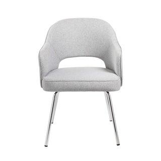 Boss Grey Linen Guest Chair