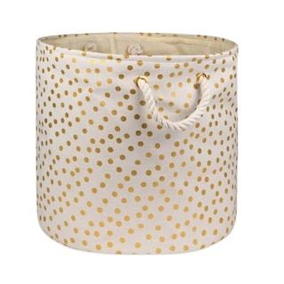 DII Round Golden Patterned Decorative Storage Bin