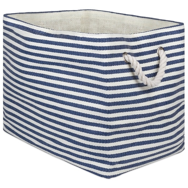 DII Pinstripe Decorative Storage Bin