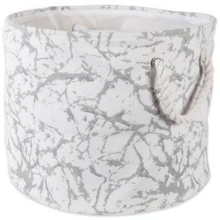 DII Round Marble Decorative Storage Bin