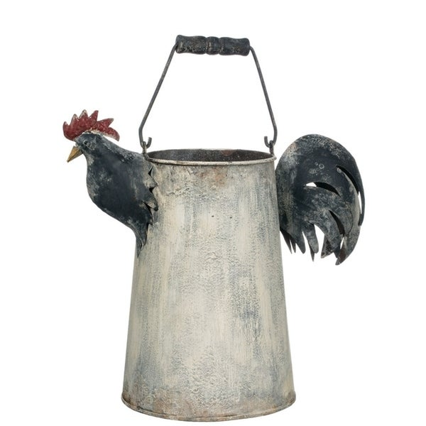 "Le Poulet Decorative Metal Watering Can - 15""L x 8""W x 13""H"