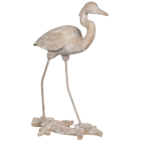 Large Standing Heron Figure
