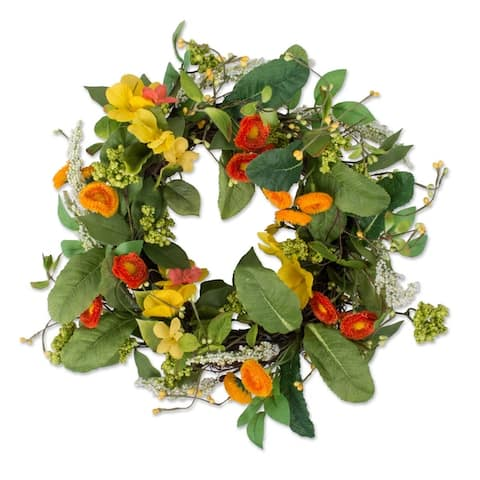 DII Summer and Spring Outdoor Decorative Wreaths