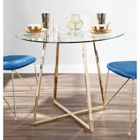 Silver Orchid Pugo Goldtone Dining Table