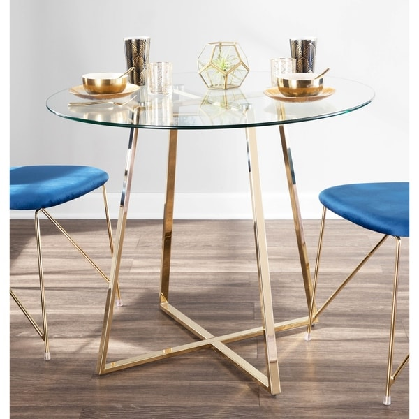 Silver Orchid Pugo Goldtone Dining Table. Opens flyout.