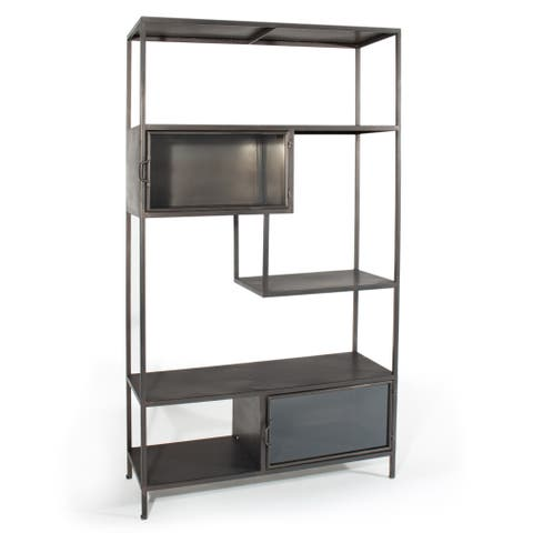 Gild Design House Eldridge Grey Metal Cabinet