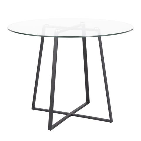 Silver Orchid Pugo Black Dining Table