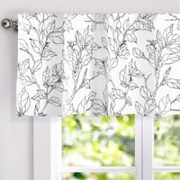 DriftAway Ryan Sketch Pattern Lined Window Valance