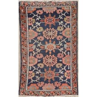 "Antique Malayer Geometric Handmade Wool Persian Oriental Area Rug - 3'10"" x 2'4"""