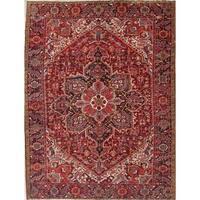 "Vintage Heriz Geometric Handmade Wool Persian Oriental Area Rug - 11'0"" x 8'5"""