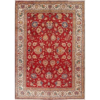 """Kashmar All-Over Floral Handmade Wool Persian Oriental Area Rug - 11'3"""" x 7'9"""""""
