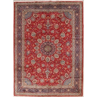 "One of a Kind Sarouk Floral Handmade Wool Persian Oriental Area Rug - 13'6"" x 9'10"""