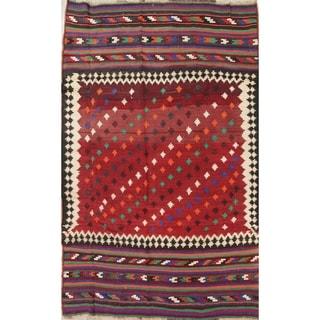 "Kilim Shiraz Geometric Hand-Woven Wool Persian Oriental Area Rug - 8'9"" x 5'10"""