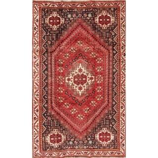 "Shiraz Geometric Handmade Wool Persian Oriental Area Rug - 8'6"" x 4'11"""
