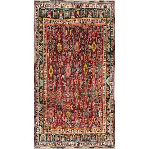 "Kashkoli All-Over Geometric Handmade Wool Persian Oriental Area Rug - 7'9"" x 4'7"""