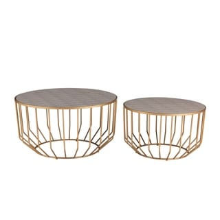 Link to Halton Faux Shagreen Round Coffee Table (Set of 2) Similar Items in Living Room Furniture
