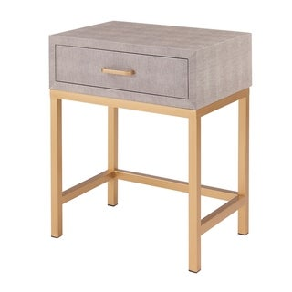 Durham Faux Shagreen 1-drawer End Table