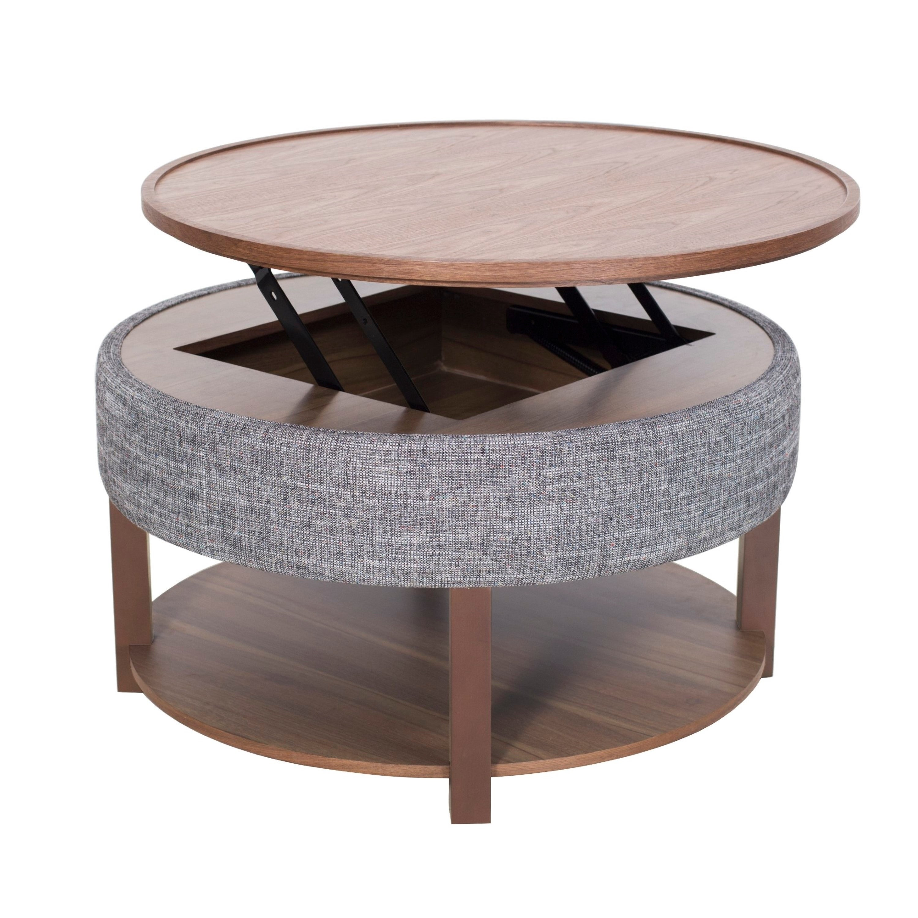 Shop Neville Lift Top Round Storage Coffee Table Free Shipping