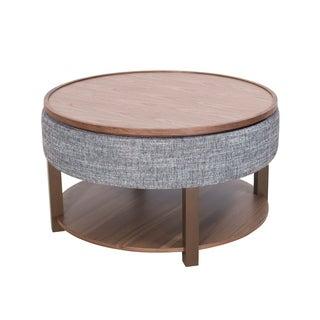 Neville Lift-Top Round Storage Coffee Table