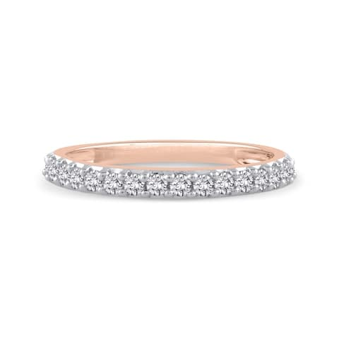 14K Rose Gold 1/4ct TDW Diamond Wedding Band (J-K, SI)