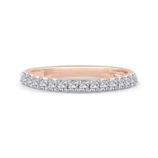 14K Rose Gold 1 4ct TDW Diamond Wedding Band J K SI