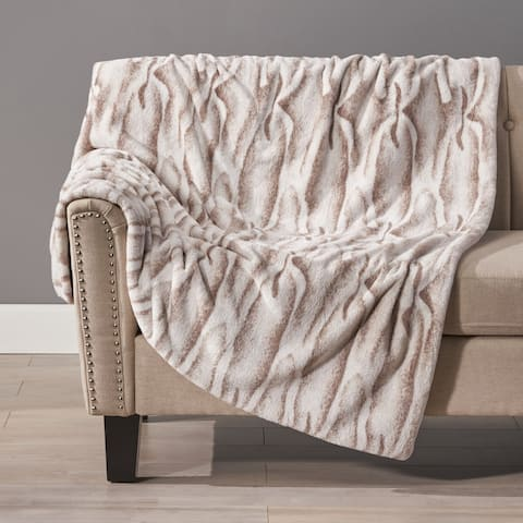 Oceanview Faux Fur Throw Blanket by Christopher Knight Home