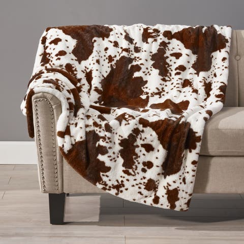Westhaven Faux Fur Throw Blanket by Christopher Knight Home