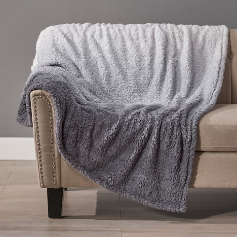 Frontage Modern Sherpa Throw Blanket by Christopher Knight Home