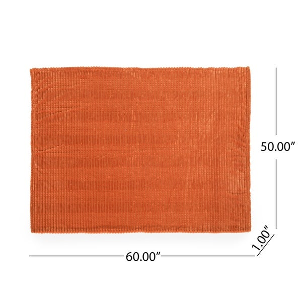 Cascara Corduroy Throw Blanket by Christopher Knight Home