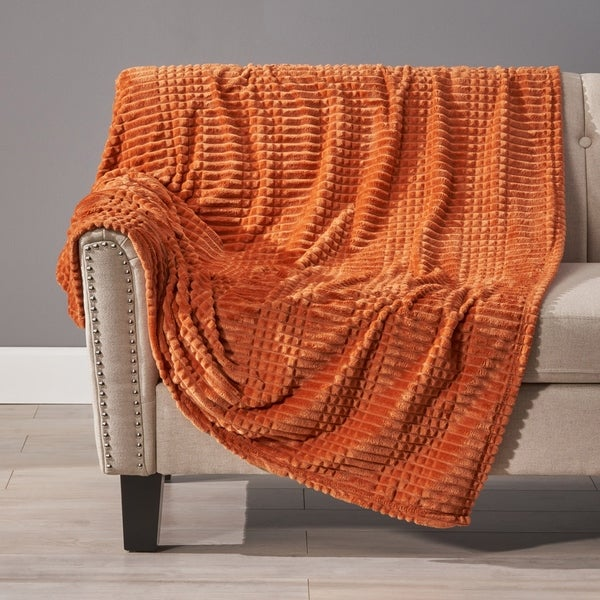 Cascara Corduroy Throw Blanket by Christopher Knight Home. Opens flyout.