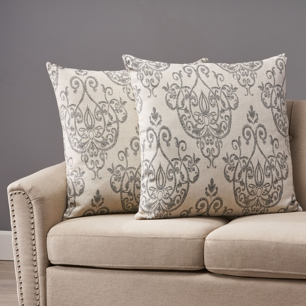Ankeny Modern Fabric Throw Pillows (Set of 2) by Christopher Knight Home. Opens flyout.