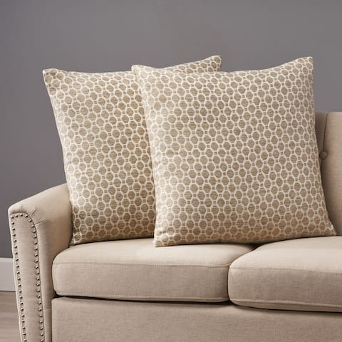 Arballo Modern Fabric Throw Pillows (Set of 2) by Christopher Knight Home