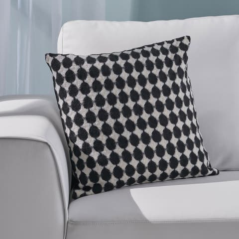 Acevedo Modern Fabric Throw Pillow Cover (No Filling) by Christopher Knight Home