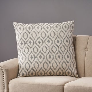Arellano Modern Fabric Throw Pillow Cover (No Filling) by Christopher Knight Home