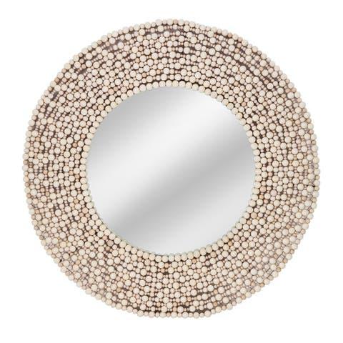 Imax Siena Wood Bead Mirror