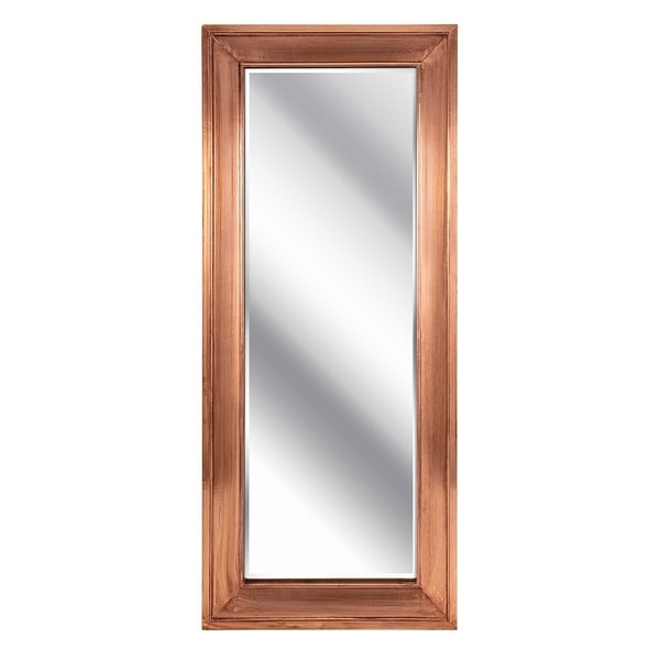 Tilde Copper Framed Rectangular Leaning Mirror