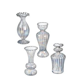 Iridescent Mini Bud Vases - Set of 4