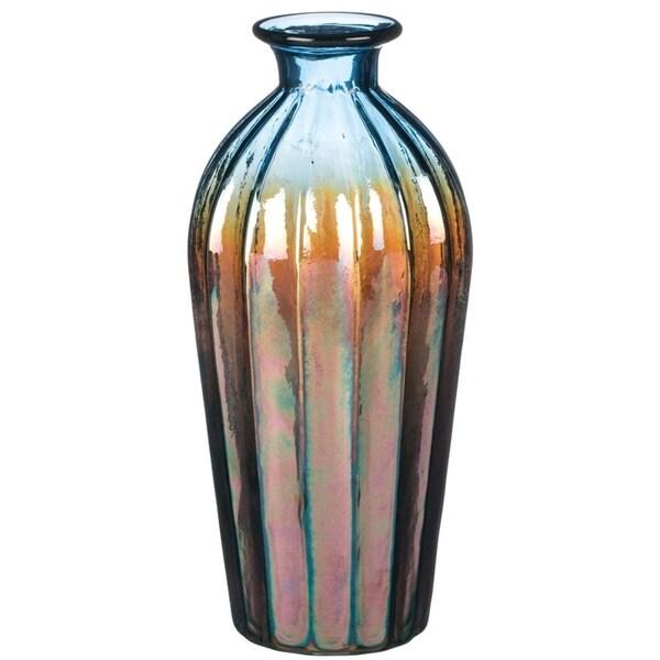 "10.5"" Iridescent Glass Vase. Opens flyout."