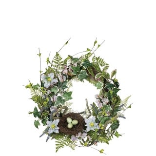 Clematis, Sweet Pea, & Lavender Wreath