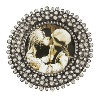 Saro Lifestyle Round Picture Frame with Jeweled Design