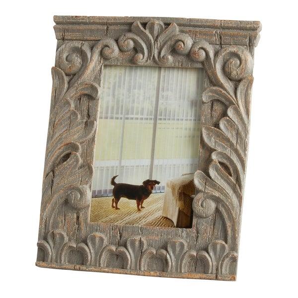 Saro Lifestyle Antique Design Natural Color Resin Photo Frame