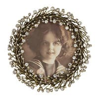 Saro Lifestyle Jeweled Picture Frame with Wreath Design